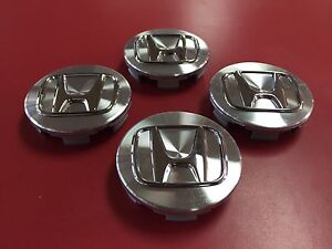 Genuine Oem Honda Aluminum Chrome Logo Wheel Center Cap Set Of 4 Pcs Part 44742