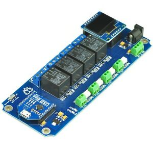 4 Channel Outputs 4 Optically Isolated Inputs Usb wireless Relay Oled Display