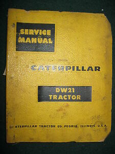 Caterpillar Dw21 Tractor Service Repair Manual