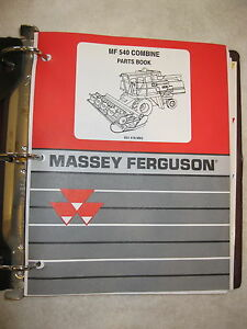 Mf Massey Ferguson 540 Combine Parts Book Manual