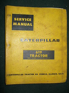 Caterpillar 619 Tractor Service Repair Manual