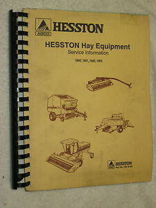 1990 93 Agco Hesston Hay Equipment Service Bulletin Information Manual