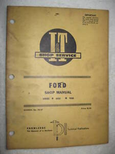 I t Ford Series 8000 9000 Tractor Shop Service Manual