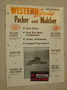 1956 Western Sprocket Packer Mulcher Soil Pulverizer 12 Page Brochure Nice