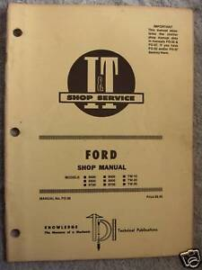 I t Ford 8000 8600 8700 9000 tw 10 Tractor Shop Manual