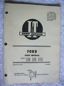 I t Ford 8000 8600 8700 9000 9600 Tractor Shop Manual