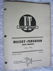 I t Massey Ferguson Mf285 Tractor Shop Manual