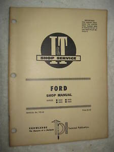 I t Ford 8000 8600 9000 9600 Tractor Shop Manual