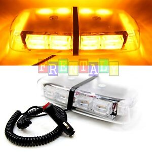 72 Leds Light Bar Roof Top Emergency Beacon Warning Flash Strobe Amber Yellow