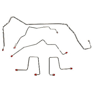 98 00 Chevrolet Blazer Front Brake Line Kit 4wd