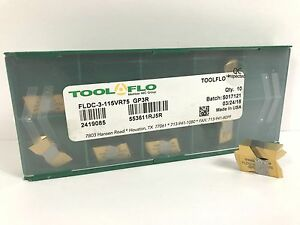 Tool flo Fldc 3 115vr75 New Carbide Inserts Grade Gp3r 10pcs X