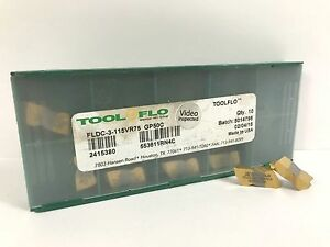 Tool flo Fldc 3 115vr75 New Carbide Inserts Grade Gp50c 10pcs X