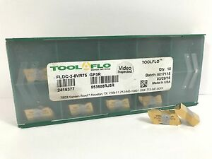 Tool flo Fldc 3 8vr75 New Carbide Inserts Grade Gp3r 10pcs X