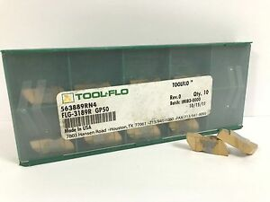 Tool flo Flg 3189r New Carbide Inserts Grade Gp50 10pcs X