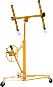 Drywall Panel Hoist Rolling Casters Construction Grade Cables Welded Steel Frame