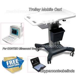 Contec Ultrasound Scanner Mobile Trolley Cart Moving Stand hand Push Use 2017