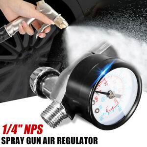 1 4 Hvlp Spray Gun Air Regulator W Pressure Gauge Diaphragm Control Auto Paint