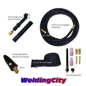 Tig Welding Torch 9f 125a 12 Flex head Replacement For Lincoln Pta Us Seller