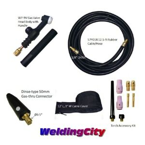 Tig Welding Torch 9v 125a 12 Valve head Replacement For Lincoln Pta Us Seller