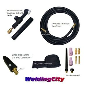 Tig Welding Torch 9fv 125a 12 Flex valve Head Replacement For Lincoln Pta Torch