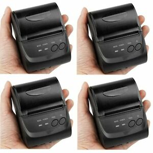 4 X Mini Wireless 58mm Bluetooth Thermal Printer Receipt For Android Mobile Ek