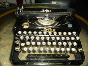 Erika Rare Vintage Antique Typewriter German Made Erika No 5 Glass Keytops 1940s