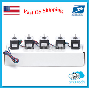 Us Shipping 5x Nema17 Stepper Motor 1 7 A 0 59 Nm 84 Ozin For 3d Printer And Cnc