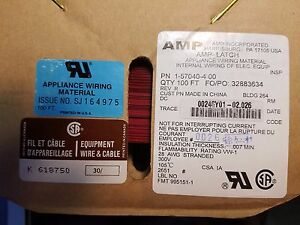 1 Lot Of 400 4x100 Amp 1 57040 4 Flat Ribbon Cable 28 Awg 300 V 14