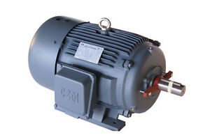 Cast Iron Ac Motor Inverter Rated 75hp 1200rpm 405t 3phase 1y Warranty