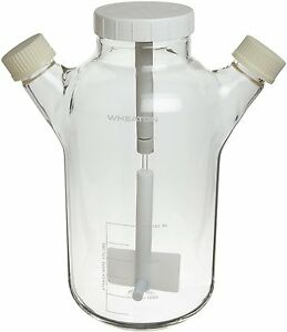 Wheaton 356889 Glass 6000ml Celstir Spinner Flask With 45mm Screw Caps 258mm