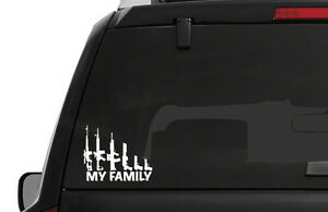 Gun Weapon My Family Decal Window Bumper Sticker 2 Sizes Ar15 Pro 2nd Nra