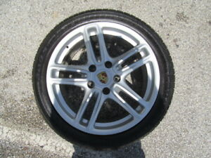 4 Used 19 Inch Porsche Panamera Wheels And 4 Used Goodyear Tires