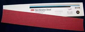 3m Red 01679 Stick It Adhesive Back File Board Sheet Sandpaper 80 Grit 25 Bx