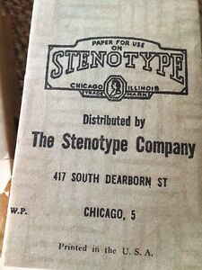 Lot Of 9 Antique vintage Stenotype Co Chicago Papers 3 Stenograph Books