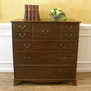 Antique Warings Large Chest Of Drawers Dresser English Mahogany