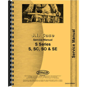 Service Manual For Case Sc Tractor 1940 1955