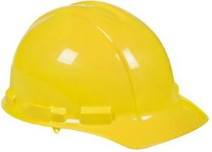 3m Yellow Hard Hat W Ratchet Adjustment Padded Sweatband Lightweight 6 Case