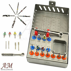 Dental Implant Surgical Drill Kit Drills Drivers Ratchet Brand New Instruments