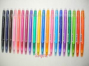 Pilot Frixion Ball Slim 0 38mm Erasable Gel Ink Rollerball Pen 20 Colors Set