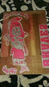 San Carlos Braves Hr High Newspaper Printing Letterpress Printers Block Indian