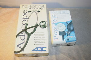 Brand new Adc Professional Stethoscope 603n And Adc Prosphyg Sphygmomanometer