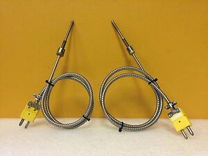 Omega Bt 000 k 3 1 2 30 2 set Of 2 Kt Thermocouple Ss Probe Assembly Unused