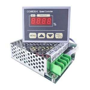 Uniquegoods 12 80v Pwm 30a Dc Motor Speed Controller Governor With Digital Panel