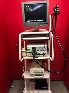 Olympus Otv si Endoscope With Cart monitor Printer
