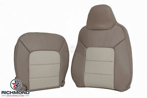 2004 Ford Expedition Eddie Bauer driver Side Complete Leather Seat Covers 2 tone