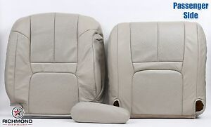 99 00 Cadillac Escalade Passenger Complete Replacement Leather Seat Covers Tan