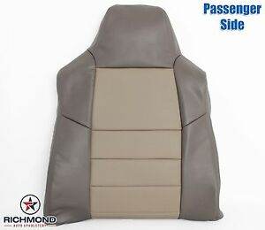 03 04 Ford Excursion Eddie Bauer Lifted passenger Lean Back Leather Seat Cover