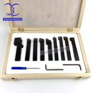 12mm 9pcs set Indexable Carbide Turnnig Tools Lathe Cutting Tools Set Cutter