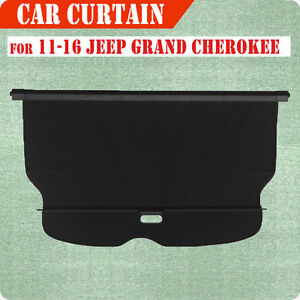 11 16 Jeep Grand Cherokee Cargo Cover Retractable Black Rear Truck Luggage Shade