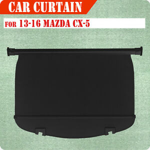 For 13 16 Mazda Cx 5 Cargo Cover Retractable Black Rear Truck Luggage Shade